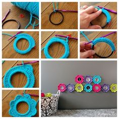 Wonderful DIY Crochet Photo Frame |This crochet photo frame is so cute . You can hanging each individual letter as above picture so that the...