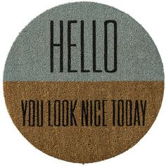 Bloomingville Door mat - 70cm - 'Hello you look..'