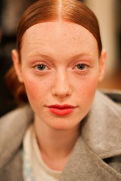 Oscar de la Renta Pre Fall 2012 Runway - makeup artist Alice Lane