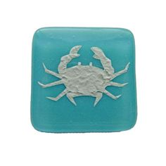 Crab Fused Glass Cabinet Knob for Kitchen or by UneekGlassFusions
