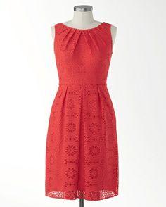 Lace medallions dress - [K17727]