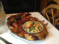 My version of spicy chicken BBQ with spicy Potatoe wedges Bbq Chicken, Spicy, Wedges, Meat, Food, Eten, Meals, Grilling Chicken, Wedge