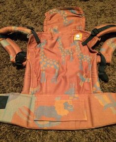 Didymos Mighty Jungle (giraffe placement) TULA BABY CARRIER