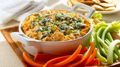 Put some of our creamy buffalo chicken cheese dip on a chip or a vegetable and experience pure bliss! This easy dip recipe will be a party's favorite! Buffalo Chicken Cheese Dip, Chicken Dips, Chicken Recipes, Turkey Recipes, Cooking Chicken To Shred, How To Cook Chicken, Classic Tuna Salad Recipe, Cheesy Bacon Dip, Dip Recipes