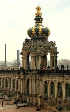 One of my favourite places. Crown Gate at Zwinger - Dresden, Saxony, Germany Beautiful Buildings, Beautiful Places, Places To Travel, Places To See, Places Around The World, Around The Worlds, Europe Centrale, Dresden Germany, Central Europe