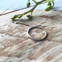 Dainty pretty ring in recycled and sterling silver Silver Toe Rings, Silver Stacking Rings, Dainty Ring, Delicate Rings, Thin Rings, Pretty Rings, Silver Beads, Beautiful Necklaces, Hummingbird