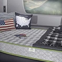 Bring the comfort of home wherever you go with the the RV Luxury Deluxe Memory Foam King Mattress. The mattress is composed of 3 in. memory foam layer fused with 5 in. high density CertiPur-US polyurethane foam. The cashmere mattress cover is removab Rv Mattress, Queen Mattress, Best Mattress, Box Queen, Queen Size, Camper Twins, Bedroom Furniture Stores, King Furniture, Furniture Ideas