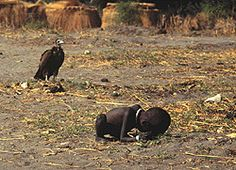 the haunting Sudan famine picture - for which Kevin Carter won the Pulitzer Prize