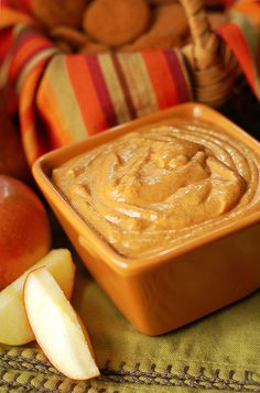 Easy Pumpkin Dip -- so good I want to eat it with a spoon, but I guess I'll use an apple slice
