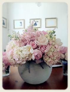 Wedding Flower Arrangement @Donna Oppedisano Love this in the tall vases