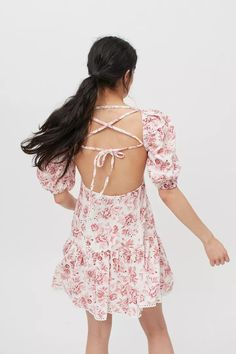 MINKPINK Love Story Strappy Back Mini Dress | Urban Outfitters Square Necklines, Love Story, Urban Outfitters, Mini, Sleeves, Cotton, Tops, Dresses, Products