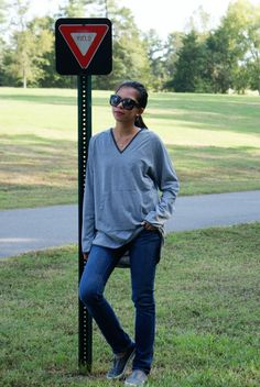 Everyday Casual Outfit: Oversized Top + Tiny Grey Stripes + Crochet Details It's one of those beautiful days where you just need to go out and enjoy the weather before it gets too cold:) We decided to go for a nice ...