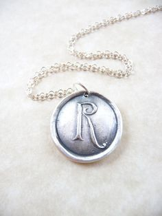 Personalized monogram wax seal initial necklace by DreamofaDream, $35.00