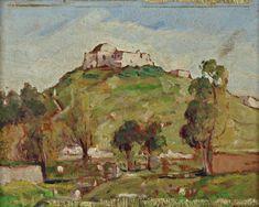 """Yahia TURKI (1902-1969) Vue de Sidi Belhassen Chedly -  Huile sur panneau Signé """"Yahia"""" en bas à droite. H: 16.5 x L: 22.0 cm -"""