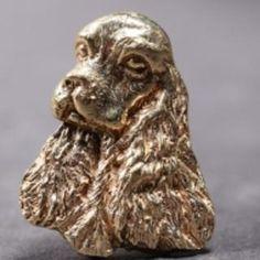 English Cocker Spaniel gold-plated HAT PIN head