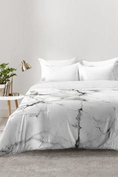 Chelsea Victoria Marble Comforter | DENY Designs Home Accessories