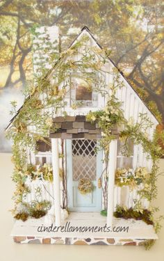 Cinderella Moments: Little White Cottage Dollhouse