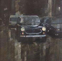 RA Summer Exhibition 2016 work 150: NIGHT IN THE CITY (PARIS, SEPTEMBER) by Julian Sutherland-Beatson, £365. #RASummer