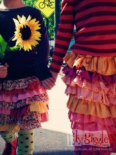 Wish I was young enough to wear these skirts! Fun!!!