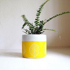 Ceramic Leaf Planter/Cup by jen e ceramics