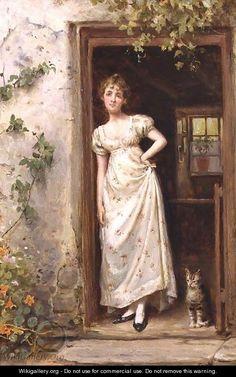 British Paintings: George Goodwin Kilburne - The Cottage Door