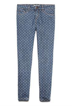 Polka Dot Print Jeans (Kids) | FOREVER21 girls - 2055879328