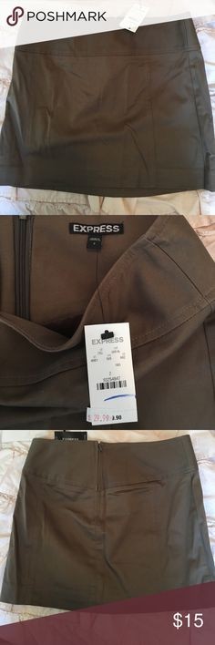Express size 2 shirt - with tags Never been worn. With tags- bought on sale for $29.99. Original price is $39.99. Needs an iron/steam job! Express Skirts Mini