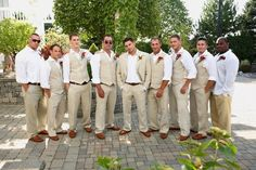 Looking Sharp!  There's something about the groomsmen in linen that adds a little extra class!
