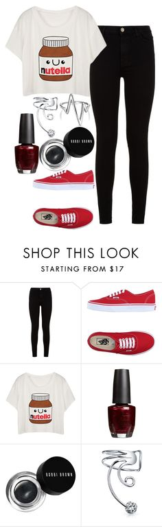 """""""Untitled#1265"""" by mihai-theodora ❤ liked on Polyvore featuring 7 For All Mankind, Vans, OPI, Bobbi Brown Cosmetics and Bling Jewelry"""