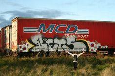 Truck graffiti bitch