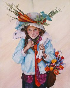 Heart Of Spring By Artist-Lori Preusch. Whimsical, visionary, fanciful and imaginative artwork. Features children, fairies and wildlife. Pinned from her website.
