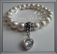 *Marcea's crafting corner*: on yer bike .... and a freshwater pearl bracelet