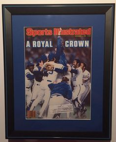 1985 Sports Illustrated of Kansas City Royals World Series Championship.