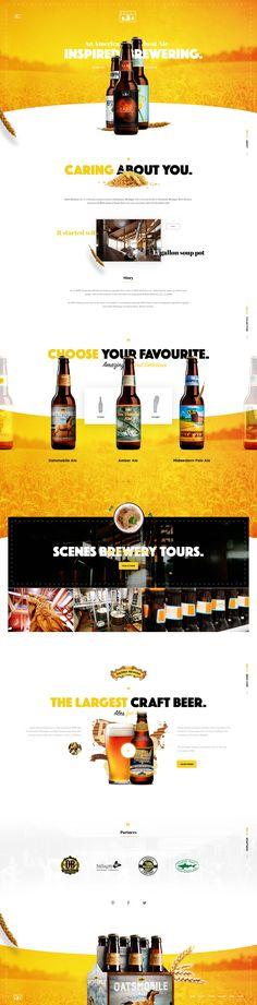 Bell's Beer – Ui redesign concept by Vitali Zahharov. You are in the right pl. Web Design Studio, App Design, Design Ideas, Web Layout, Layout Design, Site Vitrine, Restaurant Web, Web Mobile, Wordpress