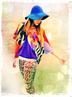 Tangerine Black & Lilac Upcycled Recycled Patchwork Silk Kimono Top https://www.etsy.com/uk/shop/darrylblack