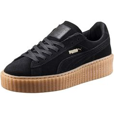 Puma PUMA BY RIHANNA WOMEN'S CREEPER ($120) ❤ liked on Polyvore featuring shoes, sneakers, suede sneakers, punk shoes, platform shoes, puma shoes and platform sneakers