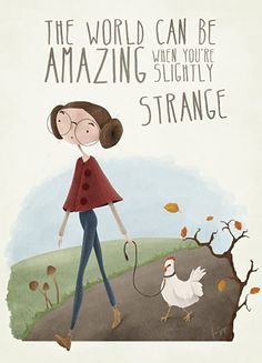 Olivia Archer, This so reminded me of you for some reason. Maybe it's the fact that she is walking the chicken.
