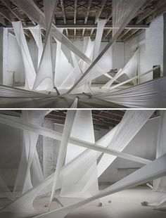 """""""the shrouds we weave around us, the lies we tell and the trouble or effort that is associated with them all in order to avoid entanglement. Stage Set Design, Set Design Theatre, Stage Lighting Design, Artwork Lighting, Conception Scénique, Bühnen Design, Gala Design, Tableaux Vivants, Performing Arts"""