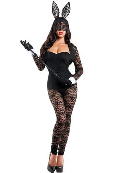 New 2017 Adult Halloween Costumes For Women Long Sleeves Lace Patchwork Bunny Costume Cat Cosplay Costume Fantasias Halloween Costumes For Women Name Long Sleeves Lace Bunny Costume Color Black Material Polyester+Spandex Package Contents. Costumes Sexy Halloween, Cosplay Costumes, Cat Cosplay, Easy Costumes, Halloween Cosplay, Popular Costumes, Costumes For Women, Adulte Halloween, Career Costumes