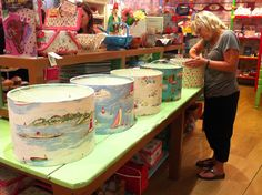 Lampshade making event in our Oxford shop