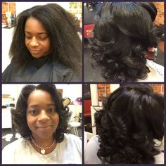 """You see it All Natural (not often) SILKED OUT w/Undead Ends...styled in """"40's/50's Pin Curls"""""""