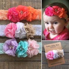 Boutique Lace Floral Headband | The Mae Headband by RudysCutiesShop on Etsy
