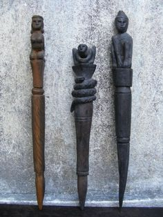 Voodoo charm Of South Asia THREE RITUAL POLE Stick For Sale | Antiques.com | Classifieds