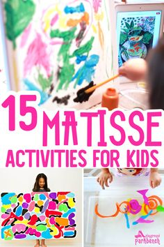 Matisse Art Projects for Kids - art and hands-on activities inspired by the bold colors and organic shapes used by Henri Matisse. An awesome Art Study for Kids of all ages Henri Matisse, Matisse Kunst, Matisse Art, Artists For Kids, Art For Kids, Kids Fun, Matisse Pinturas, Art Tumblr, Montessori Art