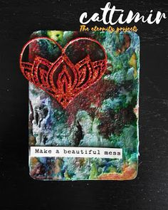 Cattimir - The eternity projects: Quote, #52cafecards, mixed media