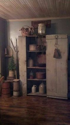 GORGEOUS, huge old cupboard!!!!  LOVE IT!!  AND.....all the GREAT stuff in it!!! :-D