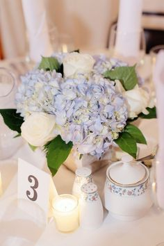 blue hydrangea reception wedding flowers,  wedding decor, wedding flower centerpiece, wedding flower arrangement, add pic source on comment and we will update it. www.myfloweraffair.com can create this beautiful wedding flower look.