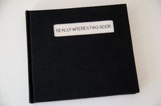 Cuaderno Really Interesting Book. Bordado a mano con ventana