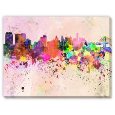 Add color to your home with Paulrommer's 'Philadelphia Skyline in Watercolor'. Canvas gallery wrapped around wood paired with the fact that it's a giclee reproduction makes for a classic piece that wi