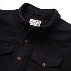 Survey Chamois Shirt-Jacket // Black